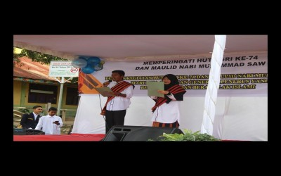 Osis SMAN 1 Blangkejeren Merayakan Hut PGRI ke-74 Dan memperingati Maulid Nabi Muhammad SAW